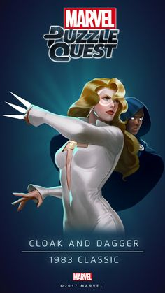 Cloak and Dagger Marvel Comic Universe, Comics Universe, Marvel Cinematic Universe, Dc Comics Superheroes, Marvel Dc Comics, Avengers Girl, Cloak And Dagger, Hero Poster, Marvel Cards
