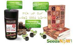 Mega Seed Bank, Non-GMO, Heirloom, Seeds, SeedsNow!, Garden, Gardening