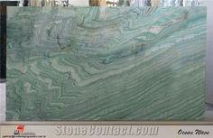Ocean Wave Quartzite Slab, Brazil Green Quartzite