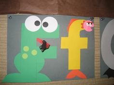 """Ff"" Letter of the week art project: frog & fish"