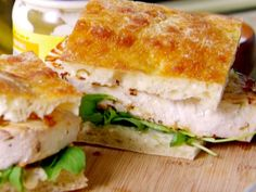 Swordfish Panini with Arugula and Lemon Aioli recipe from Everyday Italian via Food Network