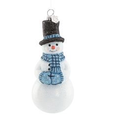 2016 Reed and Barton Snowflurries Snowman Glass Ornament | Reed and Barton Ornaments