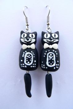 My @Kit Cat Clock Inspired Earrings! :)