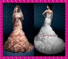 Rosa /WeißHochzeitskleid Brautkleid,Abendkleid,Bridesmaid Kleider   eBay