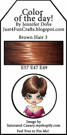 Copic Color of the Day 114 Brown Hair 3 and DoveArt Studios Copic Pens, Copic Art, Copic Sketch Markers, Copics, Prismacolor, Copic Color Chart, Copic Colors, Copic Markers Tutorial, Spectrum Noir Markers