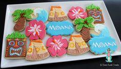 Like Moana one Moana Theme Birthday, Moana Themed Party, Hawaiian Birthday, Moana Party, Luau Birthday, 6th Birthday Parties, Birthday Ideas, Moana Cookies, Luau Cookies