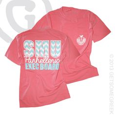 GETSOMEGREEK PANHELLENIC CUSTOM GROUP ORDER!! SO CUTE WITH THE LARGE CHEVRON SCHOOL LETTERS!! EXEC BOARD!