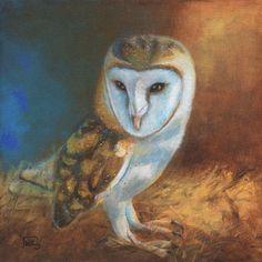 """Barn Owl Blue"" by Terry Webb Harshman"