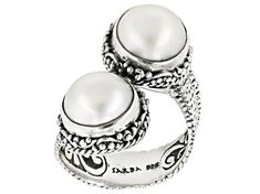 Artisan Collection Of Bali™ round cultured white mabe pearl sterling silver bypass ring. Measures approximately x Not sizeable. Finished under gallery. Silver Pearls, Silver Jewelry, Silver Rings, Bypass Ring, Broken Chain, Types Of Rings, Selling Jewelry, Necklace Types, Cultured Pearls