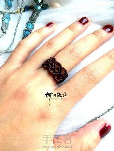 【柳月绳话】镂空花边柔美戒指 第1步