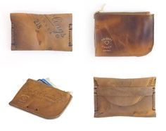 Fielders Choice, Vintage Baseball Glove Wallets and leather goods .
