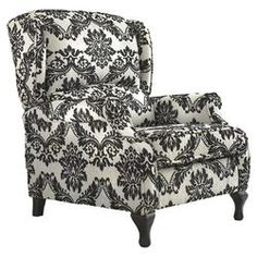 Floral Recliner in Black & White