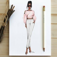 Fashion design inspiration sketches outfit for 2019 Fashion Design Sketchbook, Fashion Design Drawings, Fashion Sketches, Moda Fashion, Trendy Fashion, Fashion Art, Fashion Outfits, Fashion Drawing Dresses, Fashion Illustration Dresses