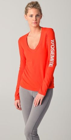 James Perse Yosemite Long Sleeve V Tee thestylecure.com