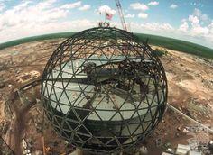 Building Spaceship Earth EPCOT Disneyworld