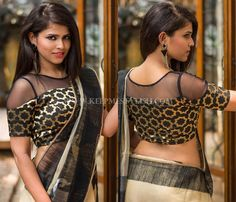 Looking for new blouse back neck designs to your silk (aka pattu) sarees? Check out our latest 13 blouse models to find out what is trending this season. Blouse Back Neck Designs, Netted Blouse Designs, Choli Designs, Kurti Neck Designs, Golden Blouse Designs, Blouse Designs Catalogue, Net Blouses, Designer Blouse Patterns, Blouse Models