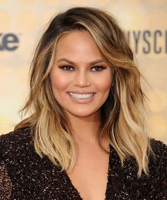 Chrissy Teigen's New Haircut Will Make You Want Bangs from InStyle.com
