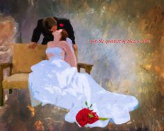 Custom Wedding or Anniversary Oil Painting Canvas 16x20
