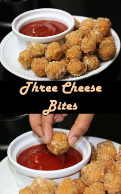 Three Cheese Bites are wonderful small crispy bites. This is made with three cheese - Paneer , Processed cheese and Parmesan cheese, mixed in Italian herbs. You can bake them too instead of frying. This is lip smacking snack. This is perfect for cocktail