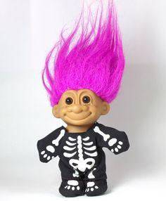 Russ Troll Doll HALLOWEEN COSTUME SKELETON No 18497 #Russ #Dolls