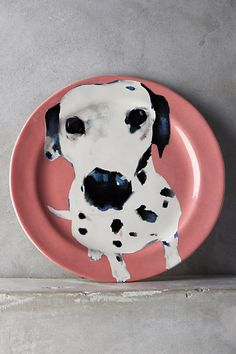Dog-a-Day Dessert Plate. Beautifully illustrated by Sally Muir, eat dessert from your favourite doggy dish!
