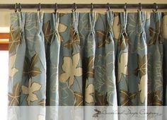 Pinch pleat curtains example
