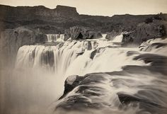 The view across Shoshone Falls, Snake River, Idaho. Taken in 1874 by Timothy H O'Sullivan.