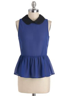 Blue a Kiss Top, #ModCloth