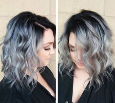 silver, with dark roots