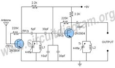 fm am mw and sw antenna amplifier circuit diagram ship start rh pinterest com batapola antenna circuit diagram tv antenna circuit diagram