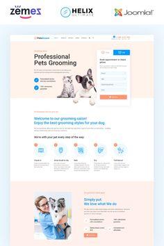 PetsGroom - Animals & Pets Multipage Clean Joomla Template #95021