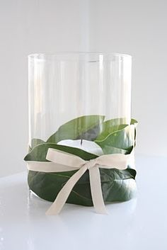 Pinterest Centerpieces magnolias | Reception tables / 5 minute magnolia centerpiece