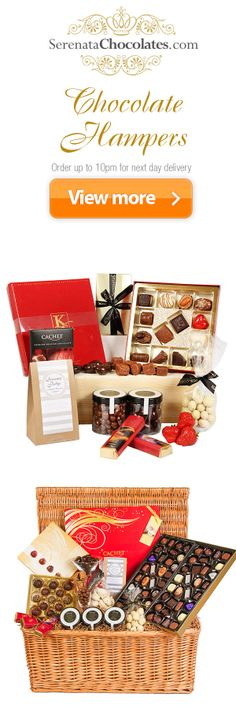 #chocolate #hampers from serenatachocolates.com with FREE delivery