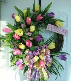 Beautiful Easter Wreath!!! Bebe'!!! So pretty!!!