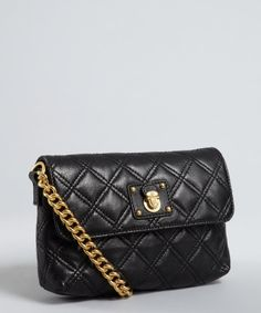 Marc Jacobs : black quilted leather 'Single' mini chain shoulder bag just in at Swap, excellent condition for only $284.99!