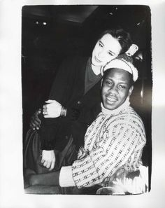 Tina Chow and Andre Leon Talley.  Photo by Andy Warhol.