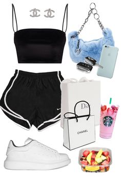 shopping day in Miami created by itslorenavalentina on ShopLook.io perfect for Everyday. Visit us to shop this look. Baddie Outfits Casual, Kpop Fashion Outfits, Sporty Outfits, Retro Outfits, Stylish Outfits, Cute Lazy Outfits, Swag Outfits For Girls, Teenager Outfits, Shop This Look Outfits