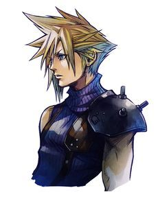 View an image titled 'Cloud Strife Art' in our Final Fantasy VII G-Bike art gallery featuring official character designs, concept art, and promo pictures. Final Fantasy Vii, Final Fantasy Tattoo, Final Fantasy Characters, Final Fantasy Artwork, Manga Anime, Anime Art, Otaku Anime, Posters Geek, Character Art