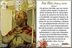 Rincón de la Oración: Estampas Oraciones de San Blas