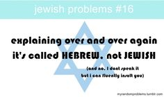 HEBREW IS WHAT WE SPEAK; JEWISH IS WHAT WE ARE