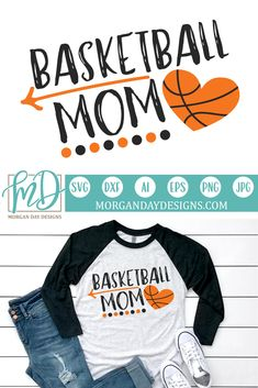 Basketball Mom - Files for Silhouette Studio/Cricut Design Space. You will receive a zipped folder c Sports Mom Shirts, Basketball Mom Shirts, Basketball Workouts, Basketball Gifts, Basketball Funny, Basketball Quotes, Basketball Pictures, Girls Basketball, Basketball Clipart