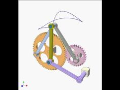 Gear and linkage mechanism 16 - YouTube