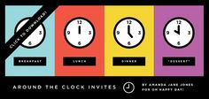 Around the Clock Shower Invite (idea for bridal shower and a free printable)