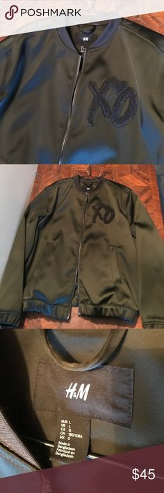 NWOT The Weeknd for H&M black jacket Like new jacket no holes or stains size large excellent condition never worn H&M Jackets & Coats Bomber & Varsity