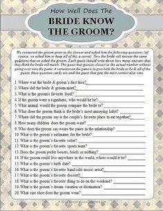 Free Printable Bridal Shower Games 5