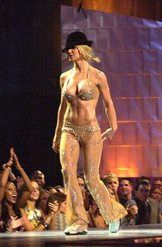 Remember when the VMA's were amazing.... Britney Spears came out wearing this and everyone lost their freakin minds? lol