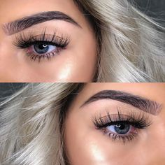 saved for lashes and brows! Glamorous Makeup, Glam Makeup, Makeup Inspo, Makeup Trends, All Things Beauty, Beauty Make Up, Hair Beauty, Beauty Stuff, Kiss Makeup