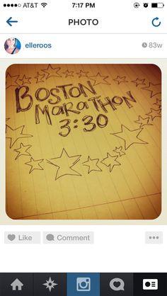 Boston marathon dreams!!