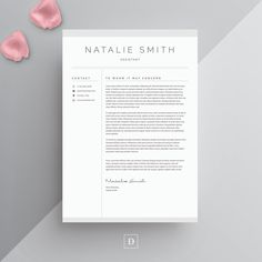 Resume Template 4 page CV Template Cover Letter for MS Resume Cover Letter Template, Letter Template Word, Student Resume Template, Microsoft Word, Resume Writing Tips, Resume Tips, Resume Layout, Modern Resume Template, Resume Templates