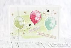 Stempel-Biene: Geburtstagskarte mit Stampin' Up! Partyballons #geburtstagskarte #stampinup #partyballons #stempel-Biene #Stempelparty